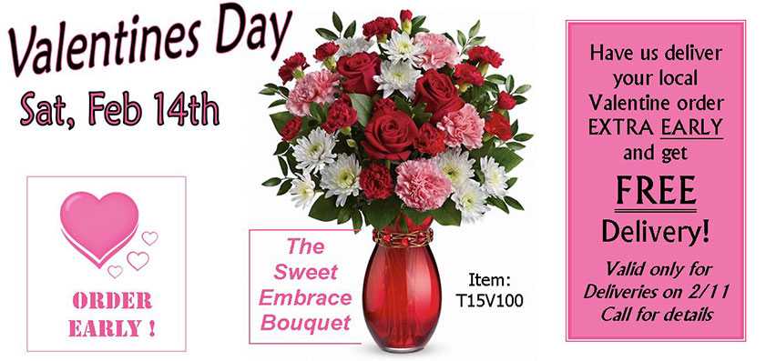 Celebrate valentine's day early and get FREE Delivery!