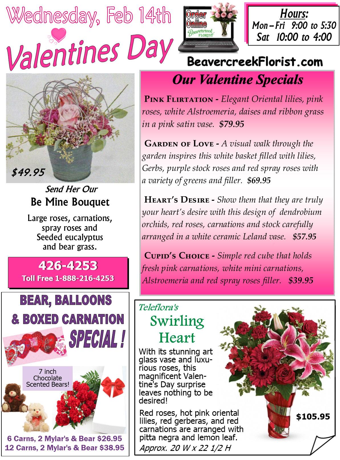 February Events from Beavercreek Florist