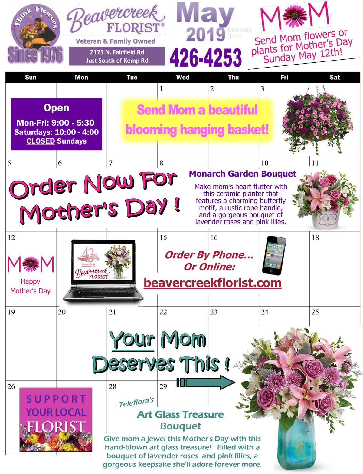 May Events from Beavercreek Florist