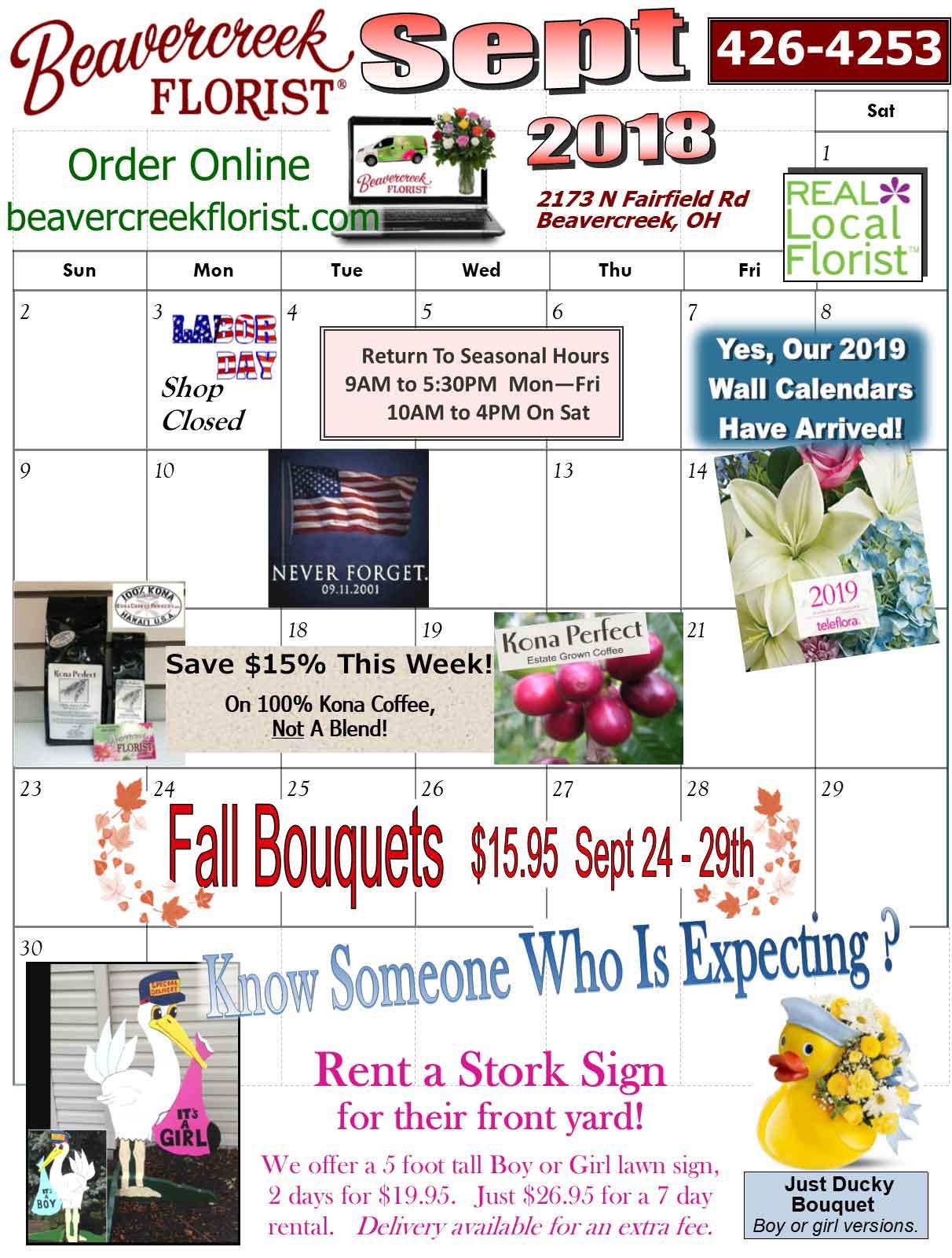September Events from Beavercreek Florist