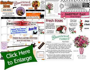 September Sales and Events at Beavercreek florist