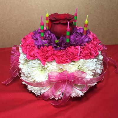 Our Floral Birthday Cake In Beavercreek Ohio Near Dayton OH Click Here For Larger Image