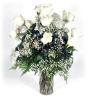 12 White Roses in Beavercreek, in Ohio, in Beavercreek Ohio, near Dayton,