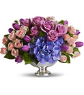 Teleflora's Purple Elegance Centerpiece in Beavercreek, Ohio, near Dayton, OH