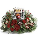 Thomas Kinkade's Festive Fire Station Bouquet in Beavercreek, Ohio, near Dayton, OH