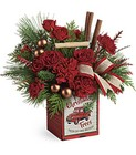 Teleflora's Merry Vintage Christmas Bouquet in Beavercreek, Ohio, near Dayton, OH