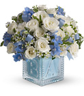 Baby's First Block by Teleflora - Blue in Beavercreek, Ohio, near Dayton, OH